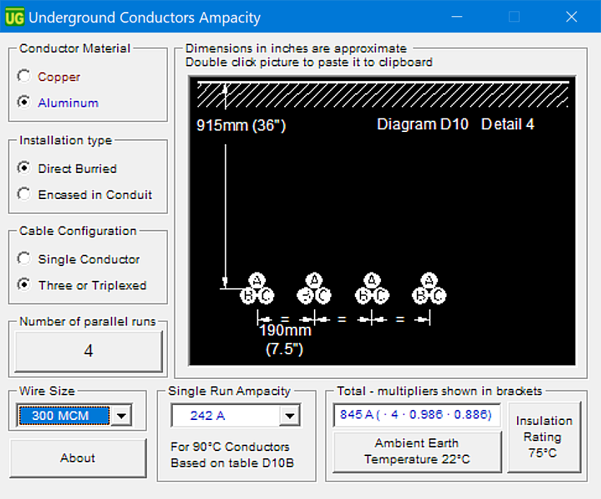 Underground Conductor Ampacity Calculation Software / FKA Underground Cable Ampacity Calculator